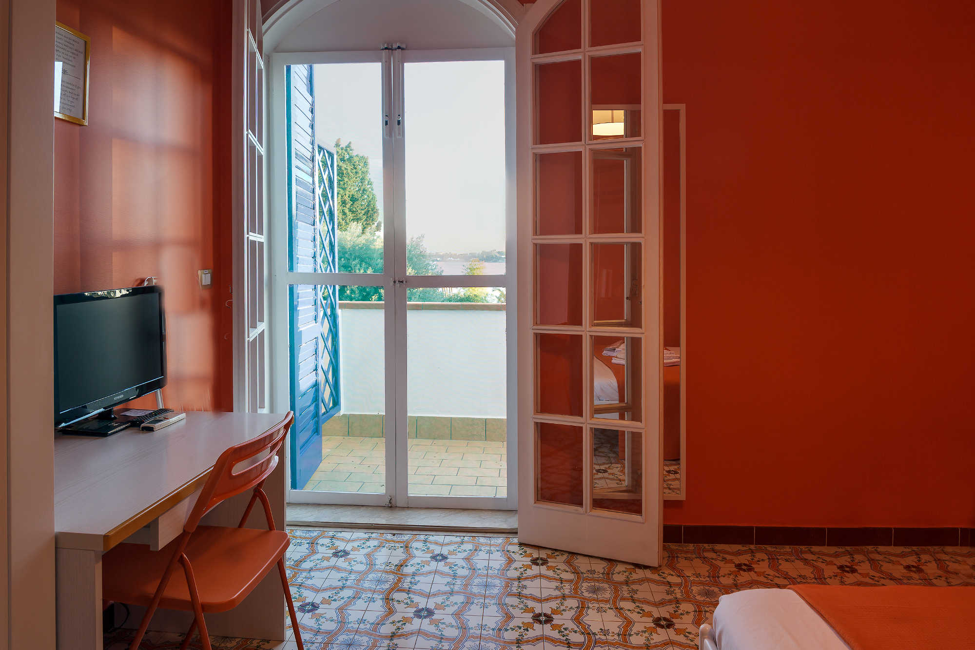 Le Saline B&B Siracusa Camera Orange: vista sul mare